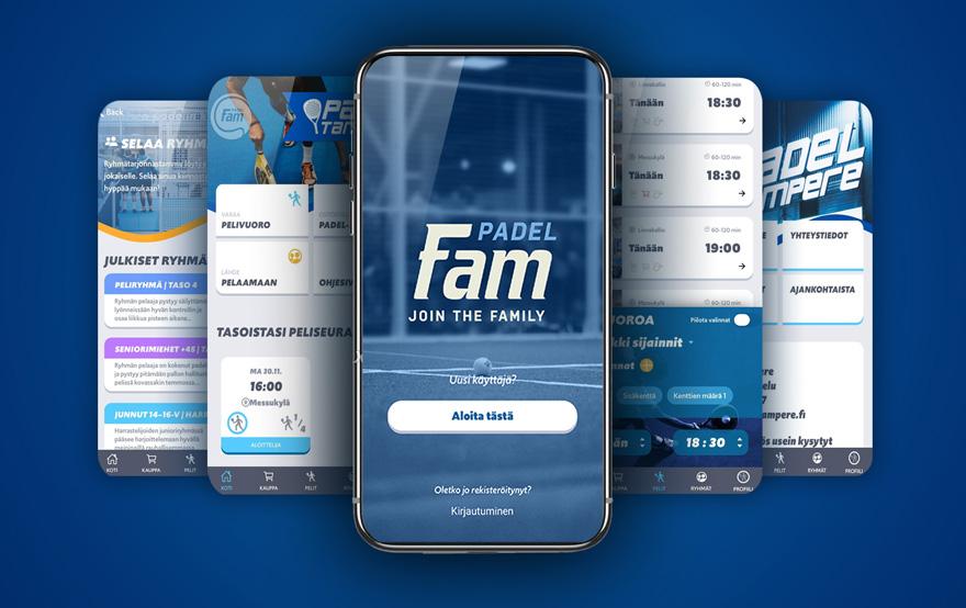 Padel FAM -sovelluksen mainos